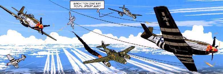 vliegtuigen in gevecht